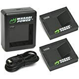 Energía eléctrica Wasabi batería y cargador para cámara de acción YI (edición internacional) de Xiaomi, Xiaoyi