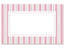 - 50ct. Polka Dots Stripes Pink & White Blank Florist Enclosure Cards Small Tags