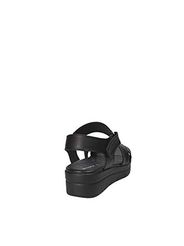 Femmes Sandales 39 Stonefly Noir compensées 110205 qt5H5nx7P