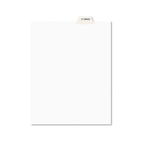 Avery-Style Preprinted Legal Bottom Tab Divider, Exhibit G, Letter, White, 25/PK, Sold as 25 Each