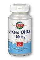 Supplément KAL 7-Keto DHEA, 100 mg, 30 comte