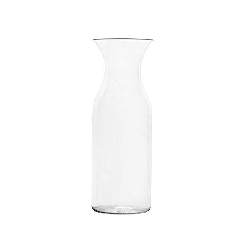 (Blazun PS-A25 Unbreakable Polycarbonate Carafe With Lid Barware (Set of 4), 33.5 oz, Clear)