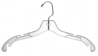Only Hangers Clear Plastic 17