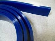 "STS Squeegee Blade 3/8"" X 2"" 80 Durometer 144"" or 12 Feet Roll Blue"