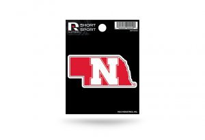 Rico Industries NCAA Nebraska Cornhuskers Die Cut Team Logo Short Sport ()