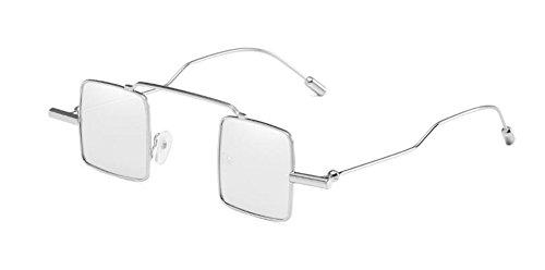 style polarisées retro lunettes Mercure Blanc vintage de inspirées cercle métallique en du Lennon soleil rond wBXqE