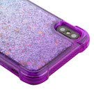 Casey Liquid Glitter Case for iPhone XS Max [Sparkle Bling] [Flowing Waterfall Quicksand Confetti ] Protective Hybrid TPU Bumper Back Phone Cover (Purple/Blue)