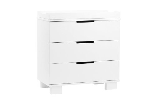 Babyletto Modo 3-Drawer Changer Dresser with Removable Changing Tray, White by babyletto