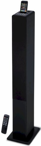 iCraig 2.1 Channel Tower Speaker System w/Remote, Sub-Woofer & Docking for iPhone/iPod 3.5mm Aux In (CHT907)