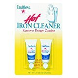 FAULTLESS Hot Iron Cleaner, Non-Toxic Steam Iron Cleaner, Removes Melted Fabrics, Glue, Hard Water, Lime Deposits & Starch - (2) 0.17 oz Tubes Blister Packs (Pack of 6)