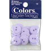 - Colors by Favorite Findings Lavender Button