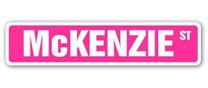 Mckenzie Bumper - McKENZIE Street Sticker Sign name childrens room door gift kid child boy girl wall entry - Sticker Graphic - Auto, Wall, Laptop, Cell, Truck Sticker for windows, cars, trucks, tool boxes, laptops