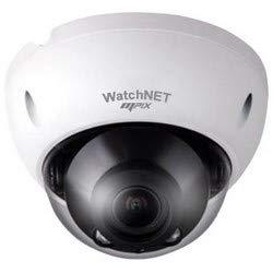 (WATCHNET INC MPIX-30VDV-IRV Network Camera, Vandalproof, Dome, IR, Full HD, DWDR, ICR, Day/Night, H.265/H.264/MJPEG, 3.5MP Resolution, F1.4 Motorized/Fixed Iris 2.7 to 12 MM Lens, 12 Volt DC, Po )