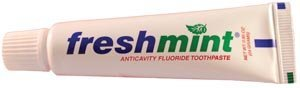 New World Imports TP85 Freshmint Anticavity Fluoride Toothpaste, 0.85 oz, Laminated Tube (Pack of 720)