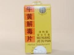 Niu Huang Jie Du Pian (20 comprimés par bouteille) C7-Trt320 solstice