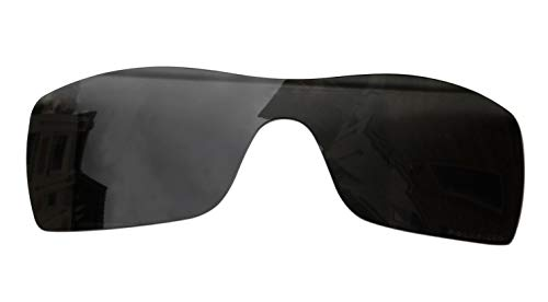 Sunglass Lenses Replacement Polarized for Oakley Batwolf Sunglasses (Stealth Black)