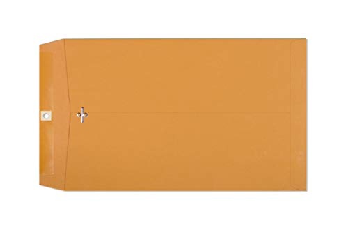 Clasp Envelopes – 10 x 15 Inch Brown Kraft Catalog Envelopes with Clasp Closure & Gummed Seal – 28lb Heavyweight Paper Jumbo Envelopes for Home, Business, Legal or School 10x15 30 Pack, Brown Kraft
