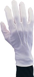 Adult Santa Claus White Gloves