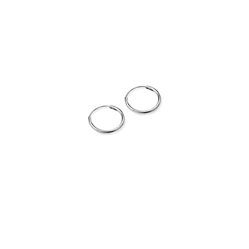 River Island Jewelry - 925 Sterling Silver Unisex EXTRA SMALL Endless Hoop Earrings 8MM For Cartilage - Tiffany Repairs Uk
