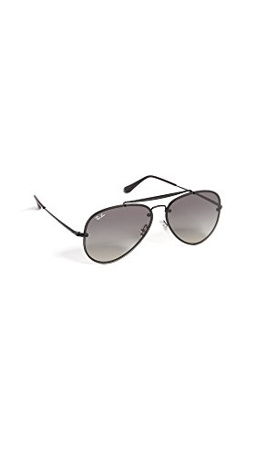 Ray-Ban 0rb3584n153/1161blaze Aviator Sunglasses, Demi Glos Black, 61 - Womens Ray Black Aviators Ban