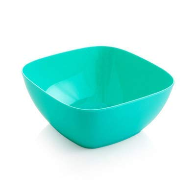 EXQUISITE Salad Bowl Square Plastic Fruit Bowl Home Kitchen Sink Coffee Table Candy Dish Salad Bowl , Blue Bowls Set