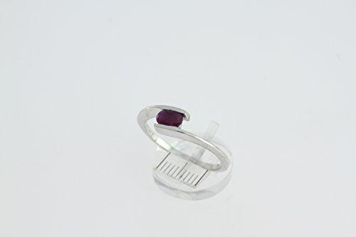 Bague en Rubis J 19 - Bijoux en argent rhodié et Rubis - Toutes tailles et diverses pierres - ARTIPOL