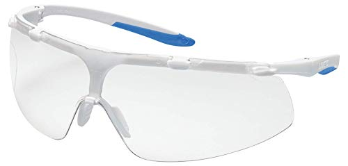 dcff5181acce Uvex 9178500 Safety Glasses, Super fit Frame, SV NCH, Clean Room Lens, Clear,  White/Blue: Amazon.co.uk: Welcome