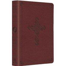 ESV Compact TruTone Bible - Antique Cross (Cranberry)