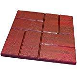 16quot x 16quot Deep Red Brick Pattern Patio Paver Step Stones 12 Tiles per Case