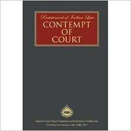 contempt of court in india