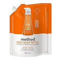 Method Dish Soap Refill, Clementine, 36 fl oz (Pack of 2)