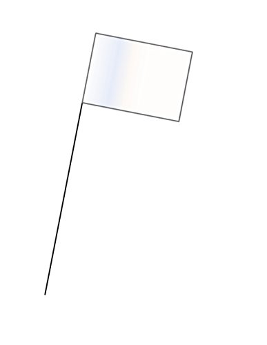 900-WT WHITE MARKING FLAG