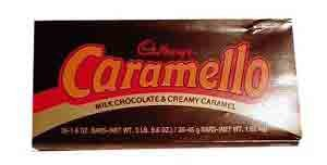 Caramello Bar - CARAMELLO Chocolate Candy Bar, Milk Chocolate Filled with Caramel, 1.6 Ounce Package (Pack of 36)