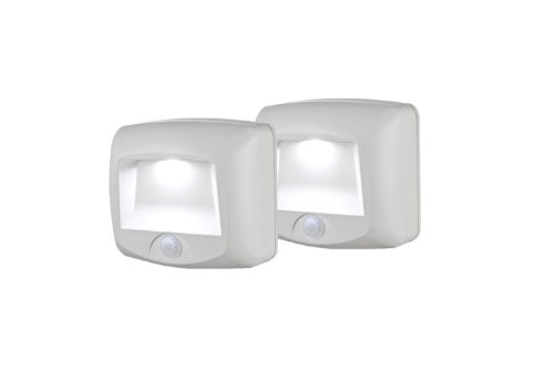 Mr Beams MB532 Wireless Battery-Operated Indoor/Outdoor Motion-Sensing LED Step/Stair Light, 2-Pack, White