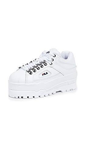 Fila Women's Trailblazer Wedge Sneakers, White Navy Red, 9.5 M US