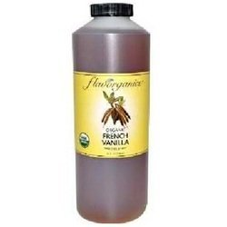 Organic French Vanilla Syrup - Flavorganics Organic French Vanilla Syrup BG13009, 24 Fl Oz