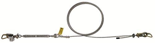 3M DBI-SALA SecuraSpan 7403060 Horizontal System, 60' Galvanized Cable Lifeline, Tensioner, Termination and Mounting Hardware, Zorbit Energy Absorber