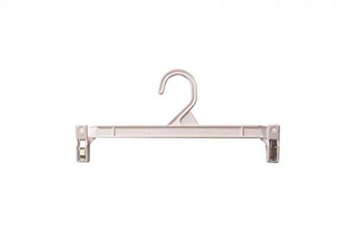 NAHANCO H211W Pinch Clip Plastic Hook Skirt/Slack Hanger, 11 1/2'', White (Pack of 100) by NAHANCO