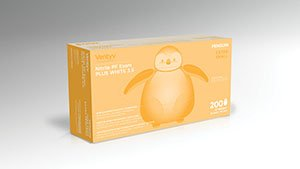 Ventyv Nitrile Powder Free Exam Glove Plus 3.5 (Penguin), White, Medium 10335104 by Ventyv (Image #1)