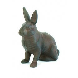 Cast Iron Rabbit Bunny Standing (Decor Iron Cast Garden)