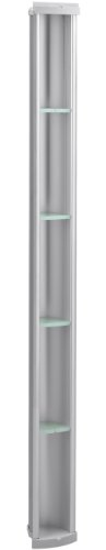 KOHLER K-1840-SS Pilaster Shower Locker, Satin Silver