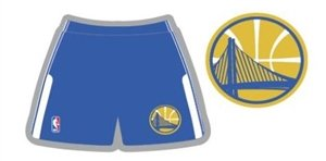 Nba Womens Shorts - Alleson Adult Logo NBA Game Shorts - Golden State Warriors - Medium