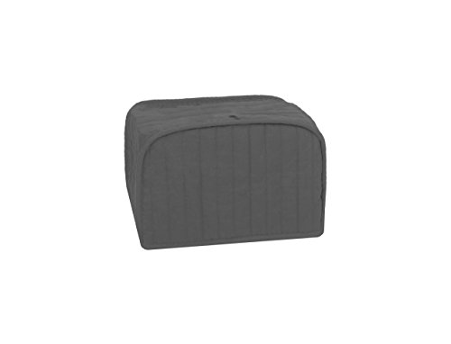 RITZ Polyester / Cotton Quilted Four Slice Toaster Appliance Cover, Dust and Fingerprint Protection, Machine Washable, Graphite Grey (Four Slot)