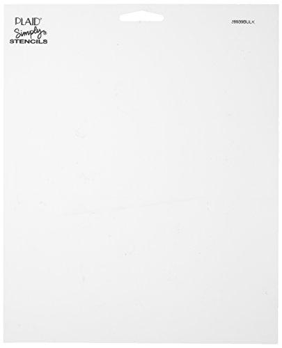 Plaid Simply Stencil (8 by 10-Inch), 28498 Cut Your Own (Set of 3) (Simply Plaid Stencil)