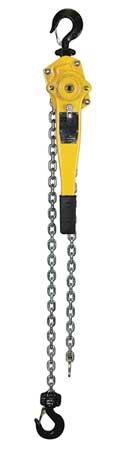 Lever Chain Hoist, Cap 3000Lb, Lift 10Ft