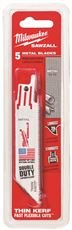 MILWAUKEE ELECTRIC 48-00-5187 THIN KERF SAWZALL BLADE 14T 9 IN., 5 PER PACK (1 PACK)