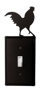 ES-1 Rooster Single Switch Electric Wall Plate with Silhouette