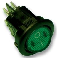 SWITCH, DPST, ILLUM GREEN MR210R5LBG By APEM MR210R5LBG-APEM