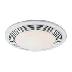 Broan-Nutone  8663RP  Bathroom Exhaust Fan and 100-Watt Incandescent Light with Glass Lens, 5.0 Sones, 100 CFM (Nutone Model)