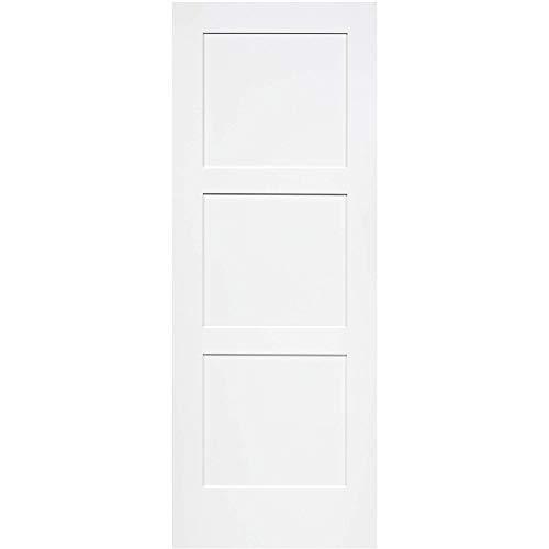3-Panel Door, Kimberly Bay Interior Slab Shaker White (32x80) (Solid Wood Interior Doors)